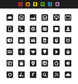 Simple web navigation pictograms collection — Stock Vector