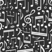 Seamless background of music notes — Stock Vector