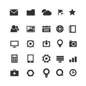 Coleção de ícones web simples isolado no branco — Vetor de Stock