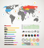 Urban transportation scheme. infographic elements collection — 图库矢量图片