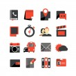Flat design monochrome icons collection isolated on white — Stock Vector