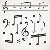 Music note collection — Stock Vector