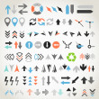 Stock Vector: Arrow sign icons collection