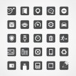 Modern square web icons collection — Stock Vector