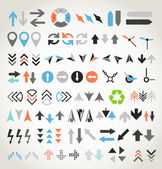 Arrow sign icons collection — Stock Vector