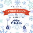 Merry Christmas! Greeting card — Vector de stock #34341943