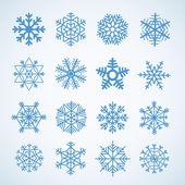 Different blue snowflakes set — Vetorial Stock