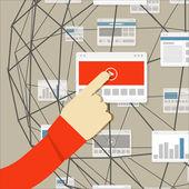 Using modern digital media environment — Wektor stockowy