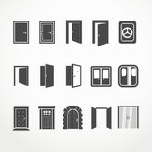 Different doors web icons collection — Stock Vector
