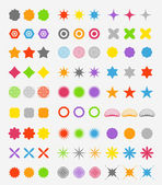 Abstract primitive color figures collection — Stock Vector
