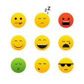 Collection of different emotion faces — Stock Vector