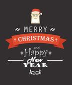 Merry Christmas decorative invitation card — Stock Vector