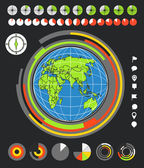 The Earth and infographic elements — Stock Vector