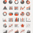 Graphic business ratings and charts. infographic elements — Stock Vector
