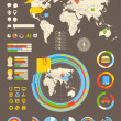 Statistic information of different industries. Infographic eleme — Vektorgrafik