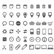 Web icons collection isolated on white — Stock Vector