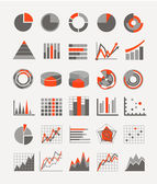 Graphic business ratings and charts. infographic elements — Stockvector