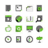 Flat design monochrome icons collection isolated on white — Stockvektor