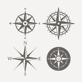 Wind rose retro design vector collection — Stock Vector