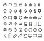 Web icons collection isolated on white — Stok Vektör