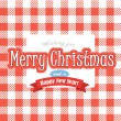 Christmas greeting red card — Stockvektor