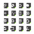 Different file types icons set isolated on white — Stock Vector