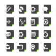 Different file types icons set isolated on white — Stock Vector #35849691