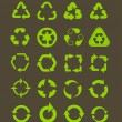 Collection of different recycle icons — 图库矢量图片