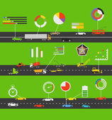 Transportation scheme with infographic elements — Stockvektor