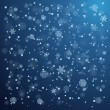 Snowfall in winter. Abstract background — Stock Vector