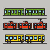 Urban transport car silhouettes collection — Stock Vector