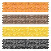 Color brick wall textures collection — Stock Vector