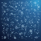 Snowfall in winter. Abstract background — Stock vektor