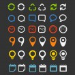 Color collection  of Web icons — Stock Vector