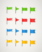 Collection of different color flags — Stock Vector