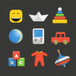 Accessories icon collection — Stockvectorbeeld