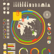 City statistic information of different countries. Infographic e — Stock Vector