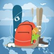 Winter vacation sports equipment — Stock Vector