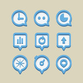Collection of different web icons — Stock Vector