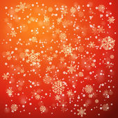Snowfall in winter abstract background — Vettoriale Stock