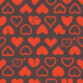 Different abstract heart icons seamless background — Stock Vector