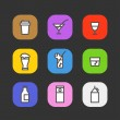 Simple different beverages icons collection — Stock Vector #39326637