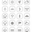 Stock Vector: Weather forecast web icons collection isolated on white