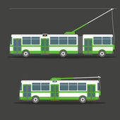 Vector city electric trolleybus collection — Vettoriale Stock