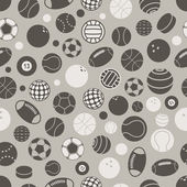 Sport ball silhouettes seamless pattern — Stock Vector