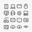 Different web icons set with rounded corners. Design elements — 图库矢量图片 #40960733