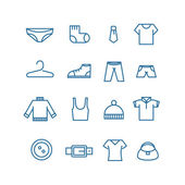 Different clothes silhouettes vector collection — Stock Vector