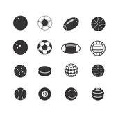 Sport ball silhouettes collection — Vector de stock