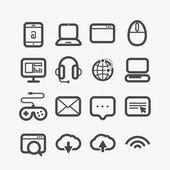 Different web icons set with rounded corners. Design elements — Stock Vector