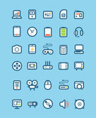 Different tech equipment icons set. Design elements — Stock Vector